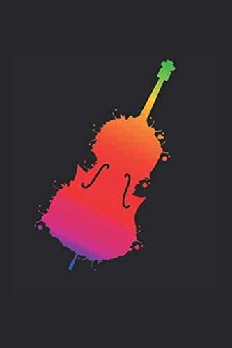 Kontrabass Cello Bassist Geige: Kontrabass & Cello Notizbuch 6'x9' Violine Geschenk für Kontrabassist & Geige