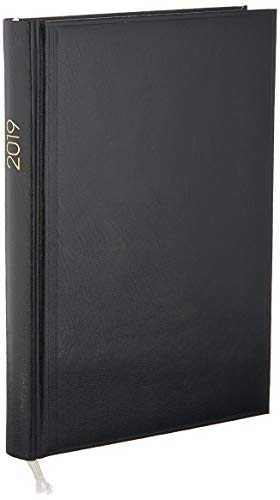 BRUNNEN 107956090 Buchkalender Modell 795 (1 Seite = 1 Tag, 14,5 x 20,6 cm, Miradur-Einband, Kalendarium 2020) schwarz