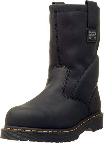 Dr. Martens, Men's Icon 2295 Steel Toe Heavy Industry Boots, Black, 9 M US