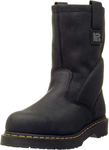 Dr. Martens, Men's Icon 2295 Steel Toe Heavy Industry Boots, Black, 11 M US