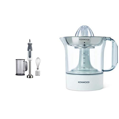 Kenwood HDP302WH Frullatore ad Immersione Triblade, Mixer, 800 W, 0.75 Litri, Plastica, Bianco & JE290 Spremiagrumi, 40 W, 1 Liter, plastica, Bianco