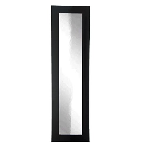 BrandtWorks BM2SKINNY Matte Black Full Length Mirror, 16 x 71