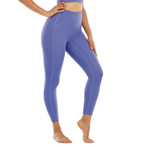 QTJY Pantalones de Yoga Suaves y sexys para Mujer, Leggings absorbentes de Sudor, Cintura Alta, Flexiones de Cadera, Pantalones de Entrenamiento para Celulitis, H S
