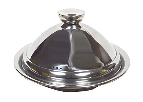 Ramadan24 Tajine aus Edelstahl marokkanische Tagine Topf - für Induktionsherde orientalische Kochtopf mit Deckel und für alle Herdarten geeignet (30 cm)