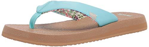 Sanuk Yoga Mat Micro Floral, Chanclas Mujer, Paraíso de la Isla, 41.5 EU