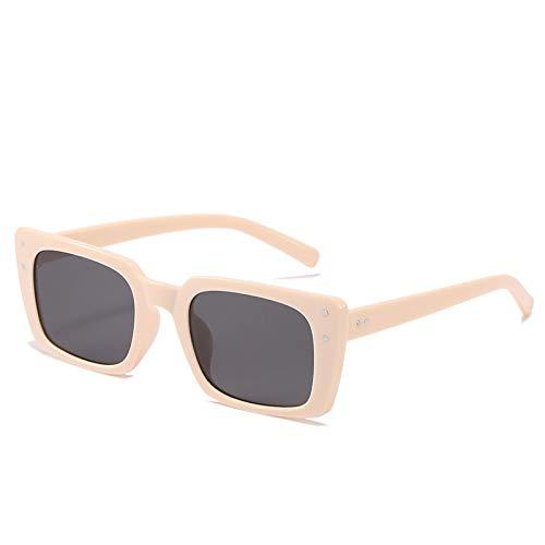 Sunglasses Gafas de Sol de Moda Gafas De Sol Cuadradas Retro para Mujer, Gafas De Sol Vintage para Mujer/Hombre, Gafas
