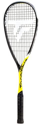 Tecnifibre Carboflex 125 Heritage 2 (2021) Raquette de squash pour adulte avec housse de raquette Noir jaune