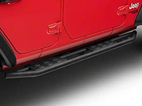 Redrock 4x4 Side Armor with Step Pads - Textured Black - for Jeep Wrangler JL 4 Door 2018-2020