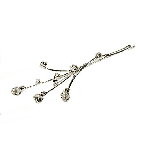 Haarschmuck Hochzeit Kristalle von Swarovski® Haarspange Brautschmuck Haare Versilbert 3 Stück