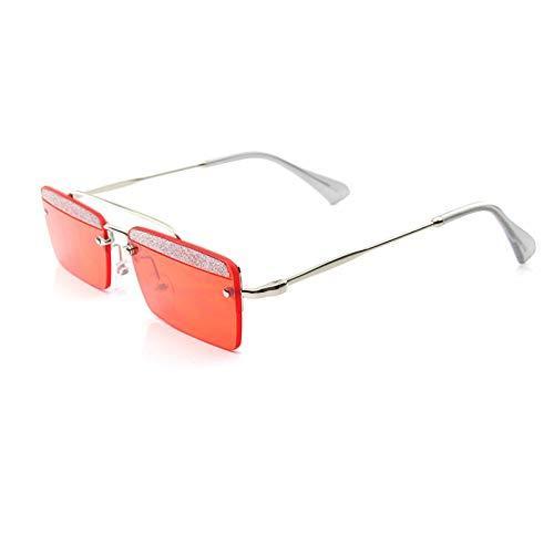 N/A Herren Sonnenbrille Damen Sonnenbrille Quadratische Sonnenbrille Catwalk Party Sonnenbrille Candy Color Augenbrauenförmige Sonnenbrille