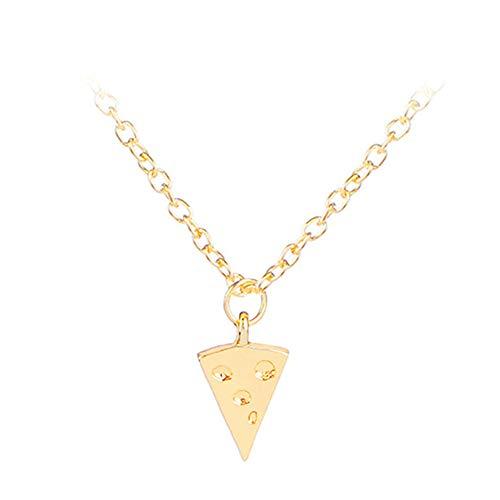 Collar Colgante Pizza Collar Brillante Collar Collar de la Boda de Collar de Moda Collar Festival Collar romántico Esposa Collar Collar de Hermana Gold