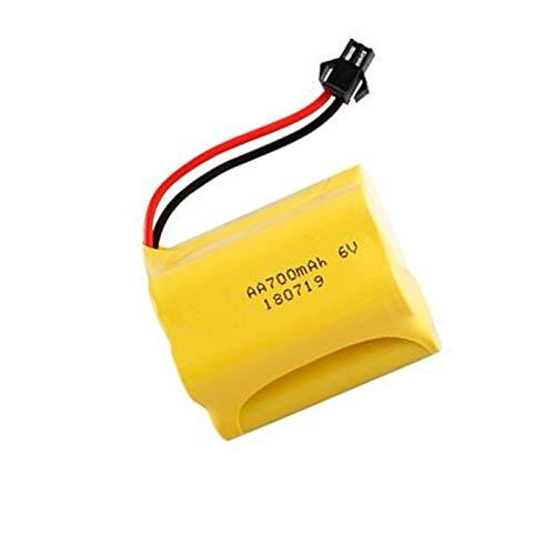 Grehod Batería de 6v 700mah para Juguetes RC, Coches, Robots, Barcos, batería Recargable, batería AA jst