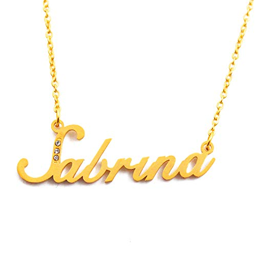 Kigu Sabrina Personalized Name Necklace - Gold Tone Packaging