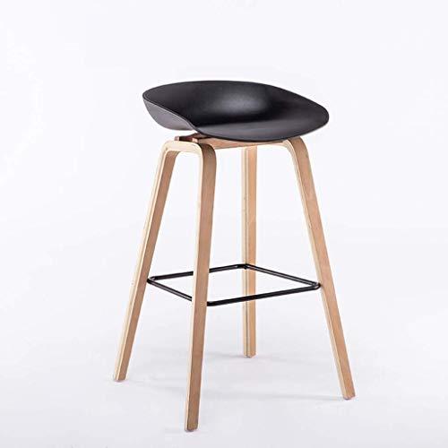 WSHFHDLC Taburete de bar de madera nórdica, taburete de bar, restaurante, recepción, escritorio, silla de ocio, taburete (color: C)