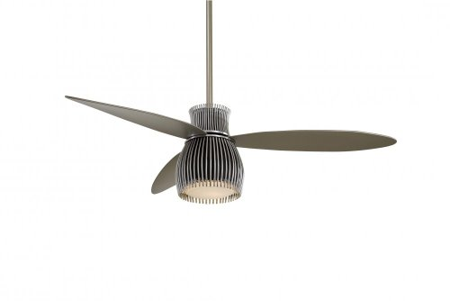 Minka-Aire F824-BK/CH, Uchiwa, 56' Ceiling Fan with Light, Black/Chrome