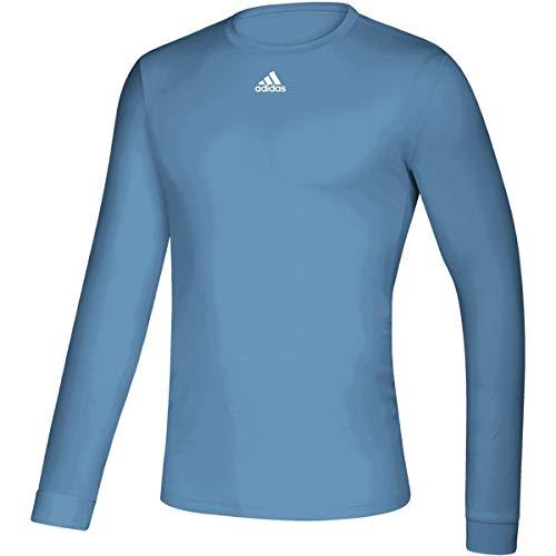 adidas Creator - Camiseta de manga larga para hombre, talla S, color azul claro/blanco