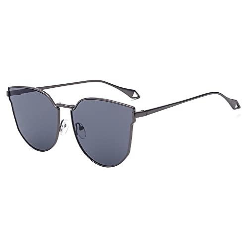 JINZUN Gafas de Sol de Moda, película de Color Metal, una Pieza de Gafas de Sol, Color gelatina, Pieza de océano, Visera, Marco de Pistola, Pieza Gris