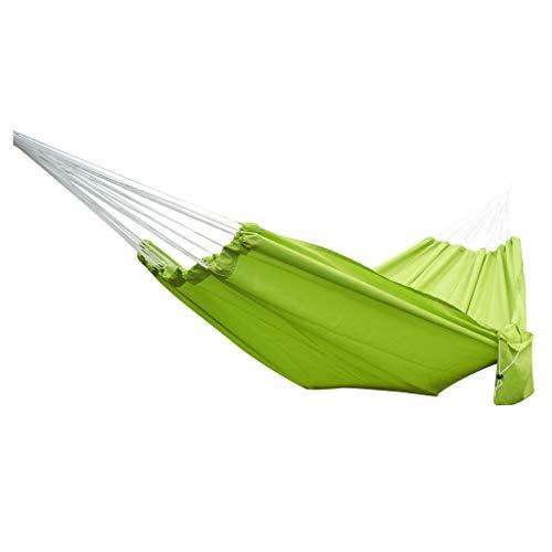 VWsiouev - Hamaca portátil para jardín, hamaca de viaje, acampada, cómoda y duradera, silla colgante grande, 200 x 140 cm, para interiores y exteriores, verde