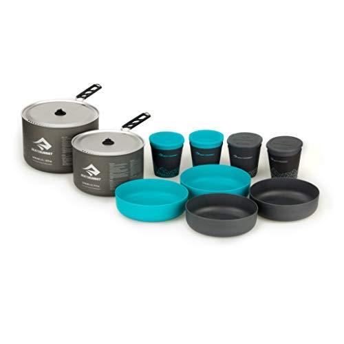 Sea to Summit Alpha Lightweight Aluminum Nesting Camping Cookware Set, 4.2 (10-Piece)
