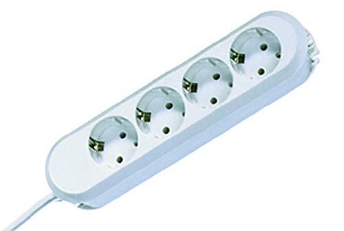BACHMANN 381.221K Stekkerdoos SMART met 4 stopcontacten, voedingskabel 1,5 m, wit