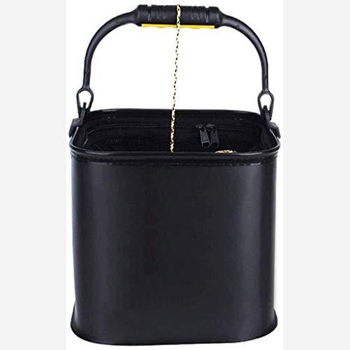 JJSFJH Klappbare tragbare Löffelzylinder Befeuchterkammerdeckel Bügel Tragbarer Wiedergabe zusammenklappbaren beweglichen Fischen Bucket - Seil for Aktivitäten im Freien, Angeln