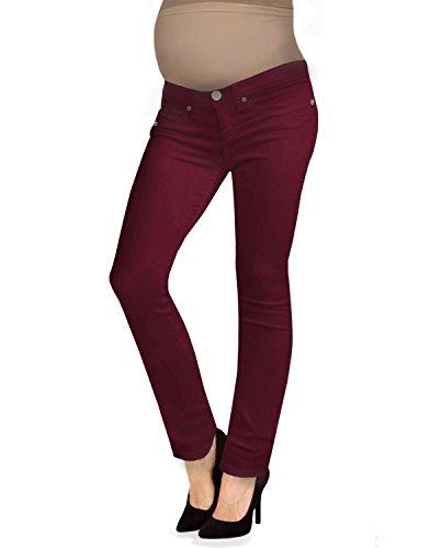 Hybrid & Company Femme Super Confortable Jean Extensible Bootcut de maternité Petit Rouge foncé