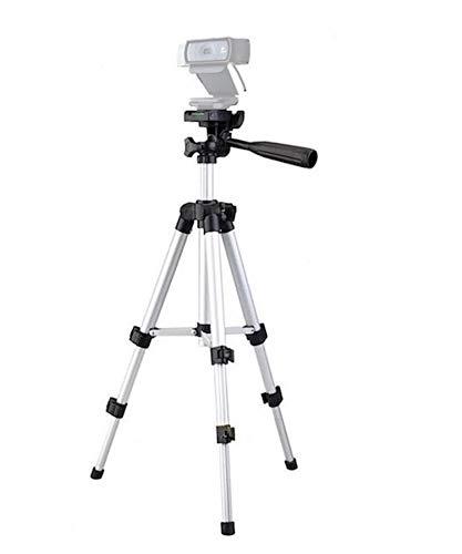 Trépied pour webcam Logitech C920, support tripode pour webcam Logitech Brio 4K, C925e C922x, C922, C930e, C930 C920, C615 - 65 cm de hauteur - Argent