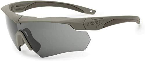Eye Safety Systems ESS Sunglasses Crossbow 2X Kit Desert Tan w/Interchangeable Clear & Smoke Lens