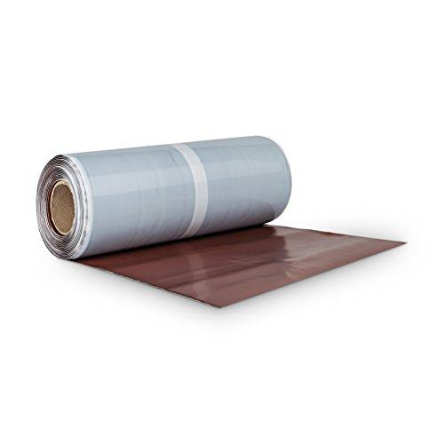 BMD Walzblei 300 mm x 5 lfm. kastanie (RAL 8012) Blei Color farbig selbstklebend Wandanschlussband Kaminanschlussband Aluflex Dachrolle