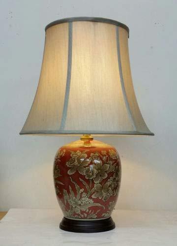 Lámpara de mesa grande tradicional Asteria (H1260) – Estilo antiguo vintage perfecto para todas las salas de estar y dormitorios – Excelente calidad