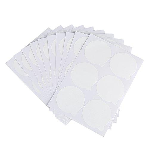 Palette de support de colle de cils jetable, 60pcs/10 feuilles autocollant de greffe de cils Jade Stone Cosmetic Makeup Tool Supplies Patch imperméable à l'eau de support de colle de cils
