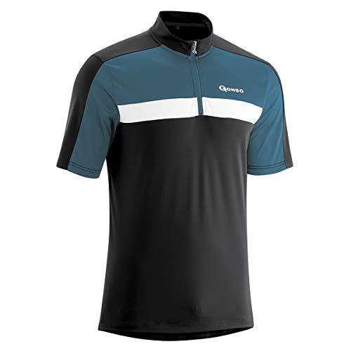 Gonso Gerd Herren Fahrrad Trikot Shirt - Alle Größen XXL-8XL, Schwarz, 6XL