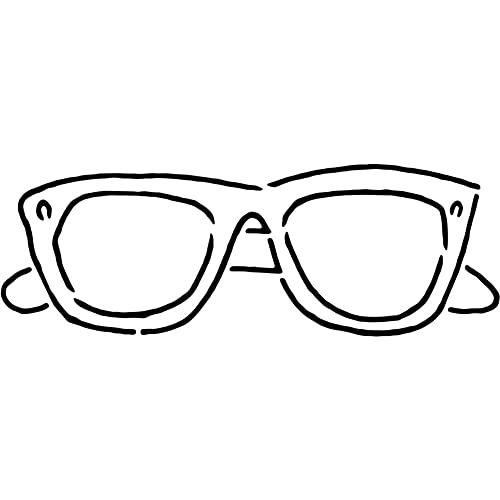 Azeeda A4 'Sonnenbrille' Wandschablone / Vorlage (WS00035435)