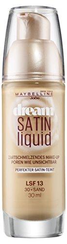 Maybelline Dream Satin Liquid Make-up Nr. 30 Sand, flüssiges Make-up, verschmilzt mit der Haut,...