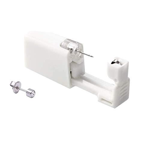 1 Pack Disposable Ear Piercing + 1 Stainless Steel Stud Earrings Asepsis Painless Safety Self Ear Piercing Gun Kit Tool for Girls Women Men