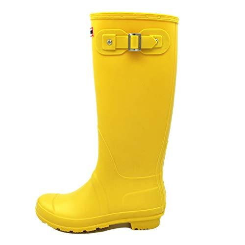 Botas altas de agua mujer, color amarillo