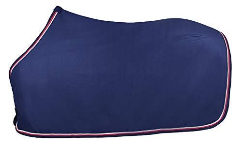 PFIFF 101496 Pferde Polarfleece Decke Pauline, Fleecedecke Pferdedecke, Blau / Pink 125