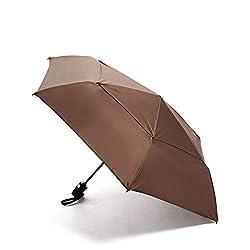 professional TUMI – Automatic Closing Umbrella – Compact Windproof Travel Umbrella – Medium – Mink