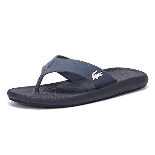 Lacoste Herren Croco Sandal 219 1 CMA Sneaker, Blau (Navy/White 092), 47 EU