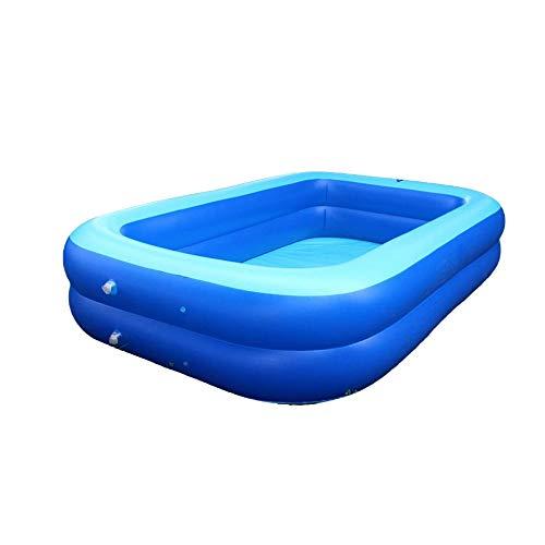 NXYJD Piscina Inflable Bañera Colchón de Agua Divertido Rectángulo Piscina de Juguete para niños Piscina de Verano al Aire Libre para niños