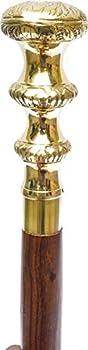Wooden Vintage Design Victoria Walking Stick Cane Beautiful Brass Handle Cane