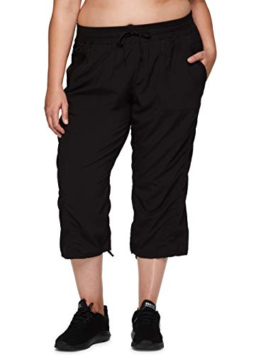 powerful RBX Active Plus Size Zumba Drawstring Pants Women's Slim Fit Black 3X