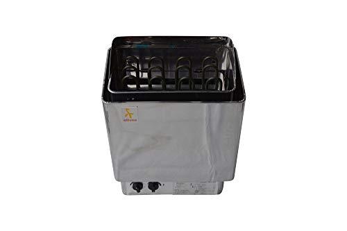 Stufa per sauna 6 kW in acciaio inox con controllo integrato...