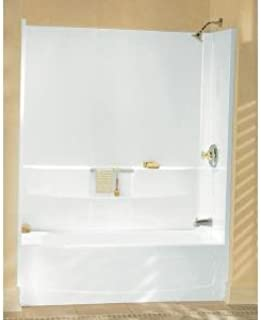 Sterling Plumbing 71044100-96 Advantage Vikrell Bathtub Wall Surround, 56.25-in H x 31.25-in W x 60-In L, Biscuit