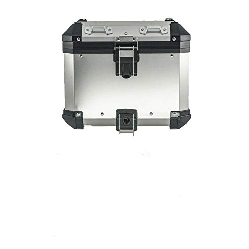 Bolsa Trasera De Motocicleta Caja de Equipaje de Aluminio para B-M-W R1200GS R1250GS Adventure R1200 ADV Motocicleta Top Case Rack Alforja (Color : Top Case and Rack)