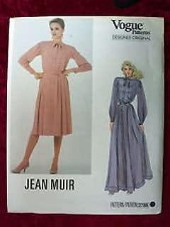 Vogue's Designer Original Pattern #2788 SIZE: 10 ***MISSES' DRESS & BELT*** A JEAN MUIR Pattern