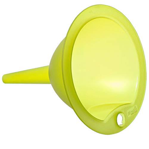 Rotho Vulcano großer Trichter, Kunststoff (PP) BPA-frei, transparent/grün, 13,5 x 13,5 x 15,5 cm