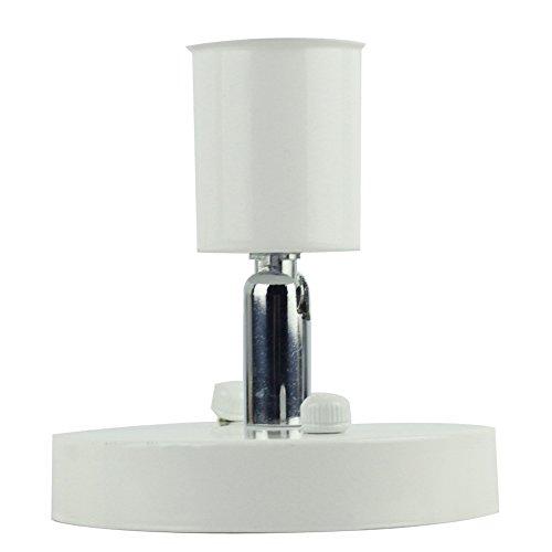 Rétro minimaliste plafonnier 1 ampoule réglable Direction Design Vintage simple Plafonnier éclairage lampe en fer pour plafond cuisine couloir Appartement Loft Galerie entrée Ø10 cm E27 Blanc