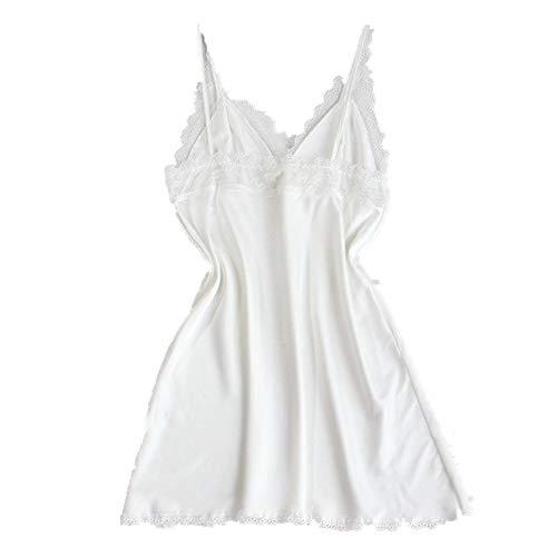 N\P Camisón de verano de seda para mujer, camisón de verano de seda, camisón de verano