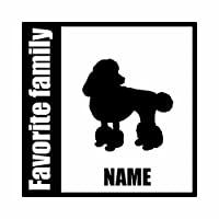ForzaGroup 全犬種 全猫種対応 トイプードル5 (134-59) 犬 イヌ 車 ステッカー 名前入れ